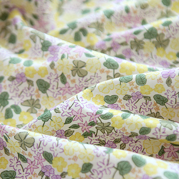 """Cotton sheeting-Lovely Flower Yellow(44"""")"""