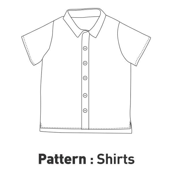 Children Pattern -Basic Short-sleeve Shirt CTV-004