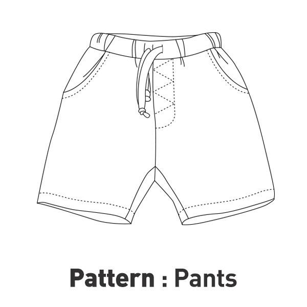 Children pattern -band exhaust shorts CTV-038