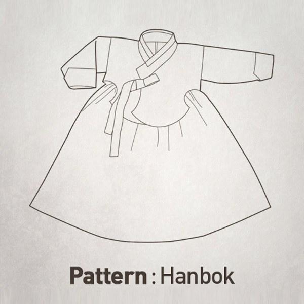 Girl's Hanbok Set Pattern CTV-042(Child)
