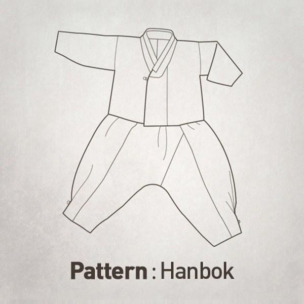 Korean Hanbok (Jacket + Pants) Pattern CTV-043(Child)