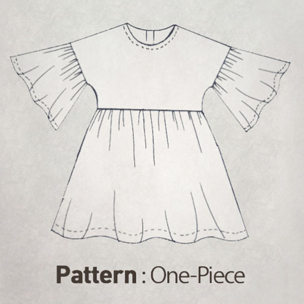 Children's Pattern - Balloon Sleeve Dress CTV-001
