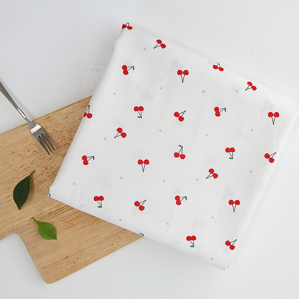 """Cotton sheeting-Fruit Party Cherry Cock(44"""")"""