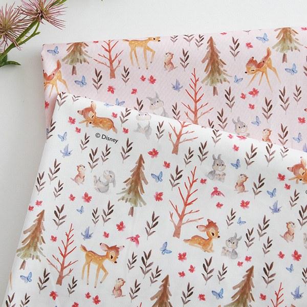 "Cotton sheeting-Disney-My Little Bambi, 2colors(44"")"