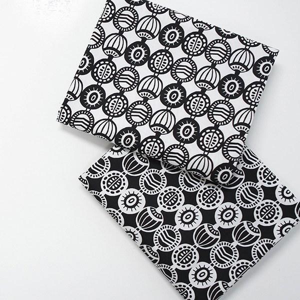 "Cotton sheeting-Mallang Luna, modern natural seed, 2colors(44"")"