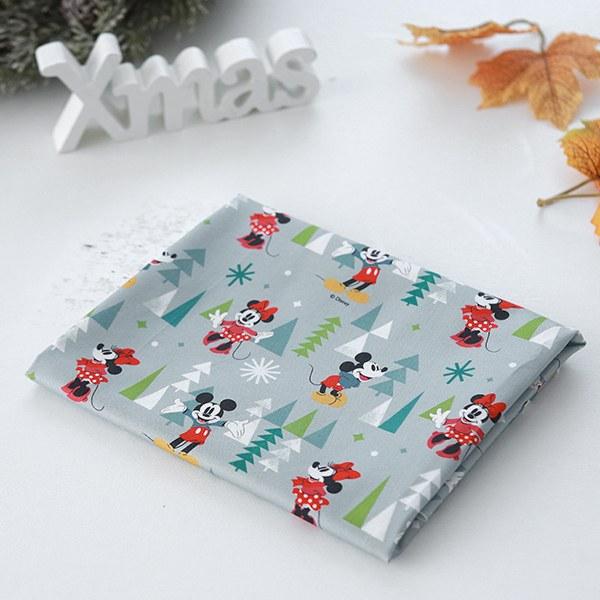 """Cotton sheeting-Disney-Original Mickey Fir Forest(44"""")"""