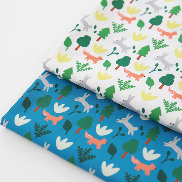"""Cotton sheeting-Mallang Luna, Animals Forest, 2colors(44"""")"""