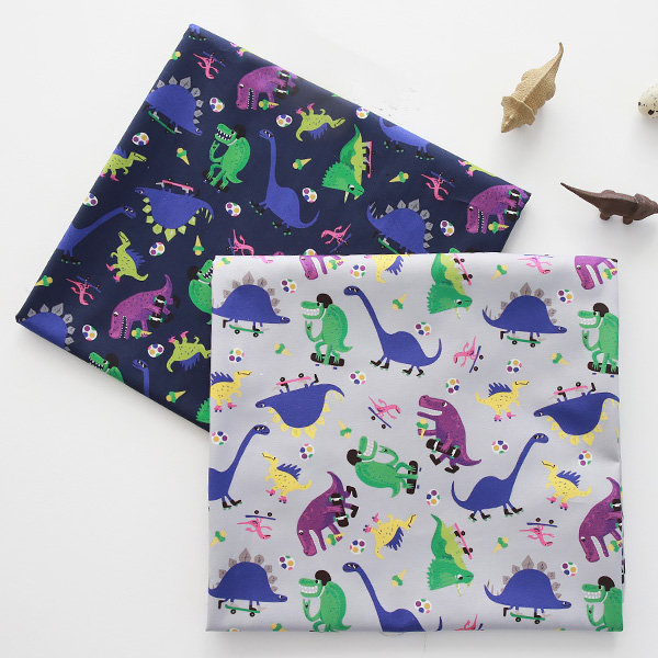 """Cotton sheeting-Dino Museum, 2colors(44"""")"""
