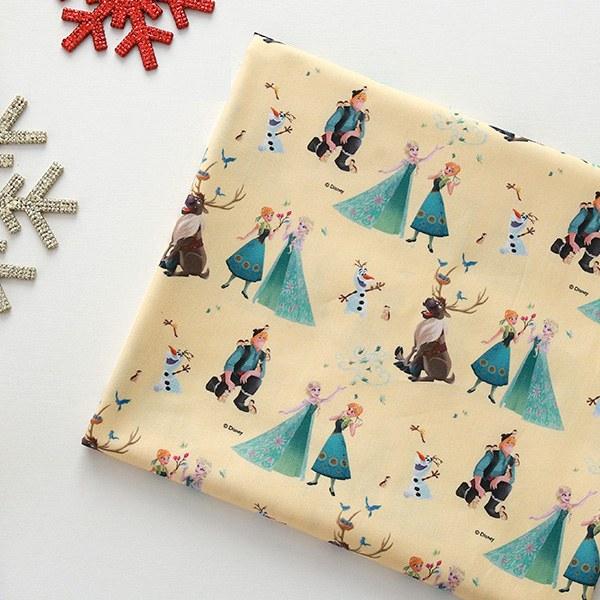 "Cotton sheeting-Disney-Frozen Sun(44"")"