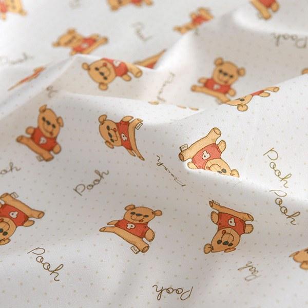 """Cotton sheeting-Disney-Babydoll Pooh(44"""")"""