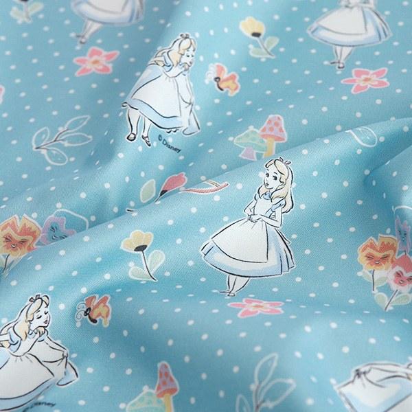 "Cotton sheeting-Disney-Alice Polka Dot(44"")"