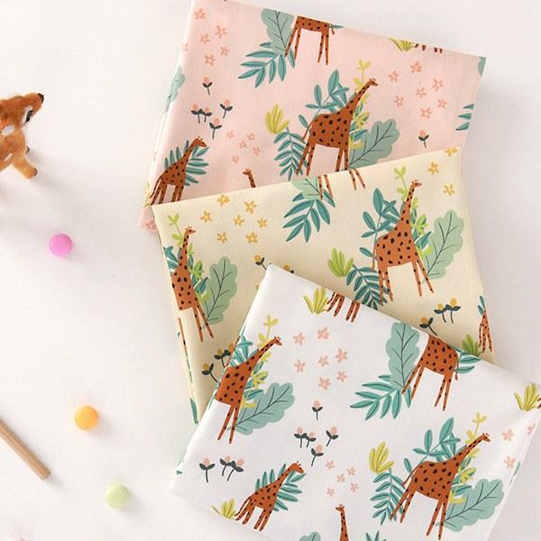 "Cotton sheeting-Giraffe Hill, 3colors(44"")"
