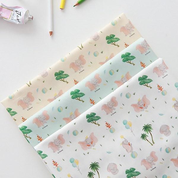 "Cotton sheeting-Disney-Joyful Dumbo, 3colors(44"")"