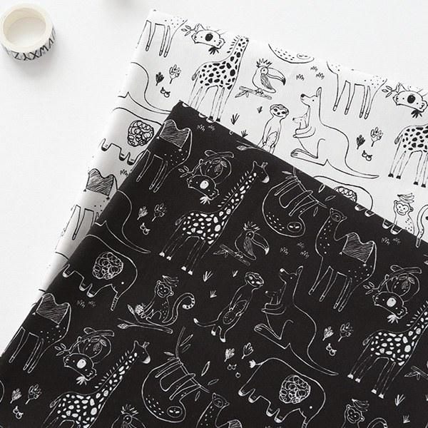 """Cotton sheeting-Petit Safari, 2colors(44"""")"""