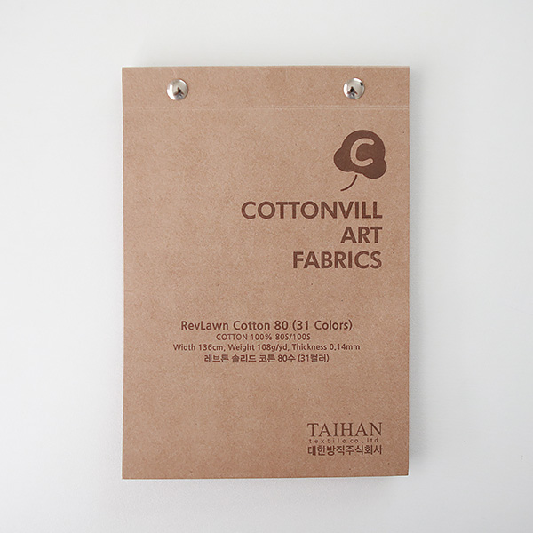 Sample Swatch Book-RevLawn Cotton 80(31colors)