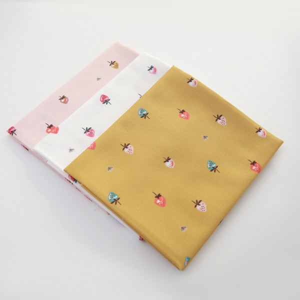 """Cotton sheeting-Bell Flower Little Berry, 3colors(44"""")"""