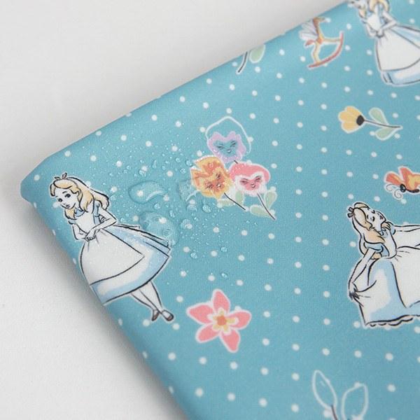"Laminated Cotton-Disney-Alice polka dot(44"")"