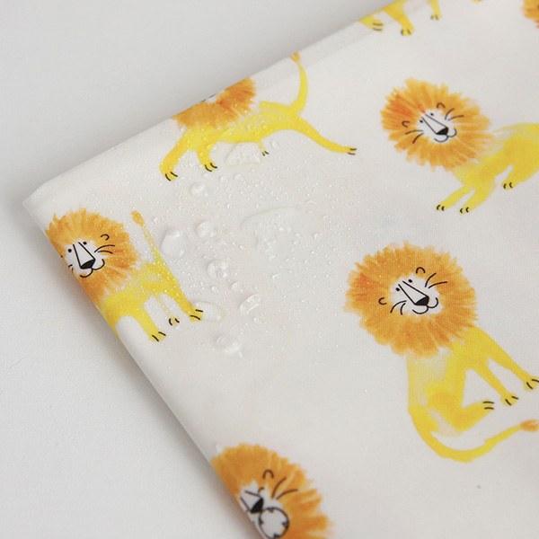 "Laminated Cotton-Hello Lion(44"")"