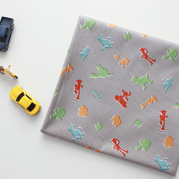 "Cotton sheeting-Disney-Toy Story Pin Dot(44"")"