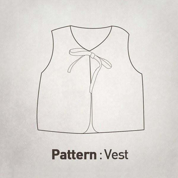 Children's Pattern -bowknot Closure Vest CTV-019