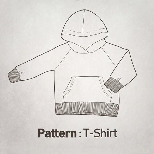 Children's Pattern -Long-sleeve Hooded T-Shirt CTV-018