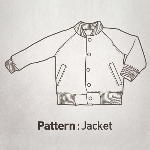 Children Pattern - Raglan Baseball Jumper CTV-023