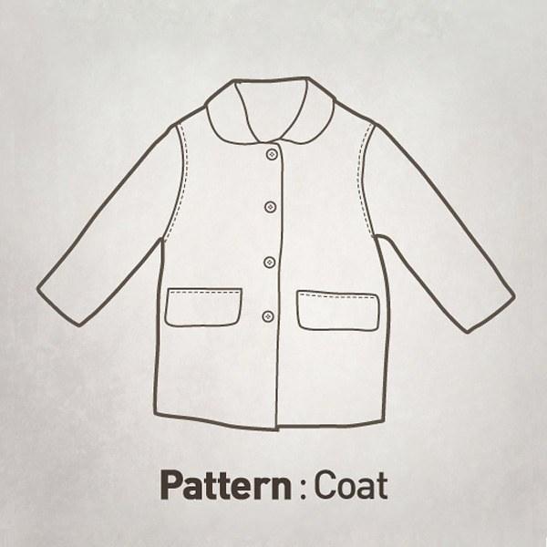 Children's pattern - basic coat of the liver CTV-027