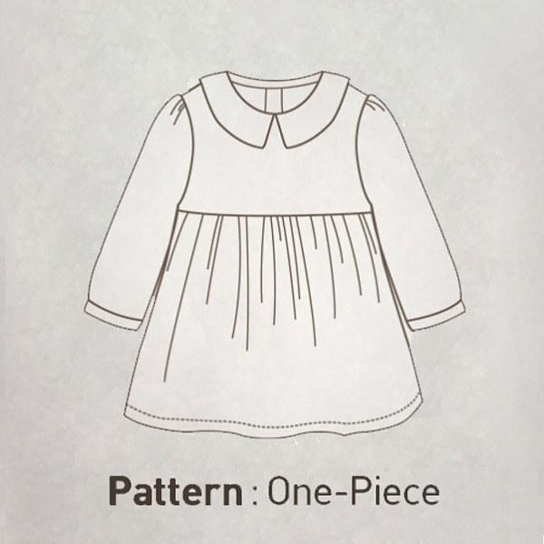 Long Sleeve Dress&Cross Bag Pattern CTV-029(Child)
