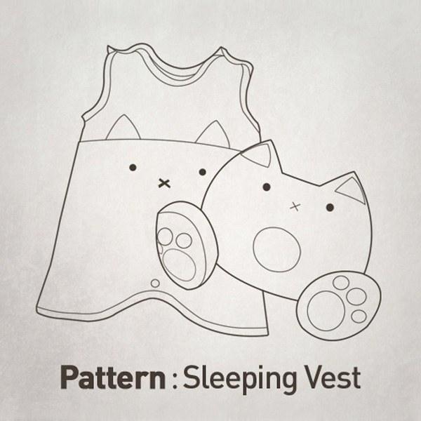 Children's Pattern - Sleep Vest + Duck Pillow Set CTV-032