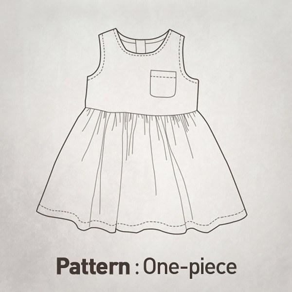 Sleeveless shirts Dress Pattern CTV-036(Child)