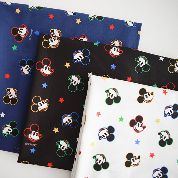 """Cotton sheeting-Disney-Mickey Twinkle Star, 3colors(44"""")"""