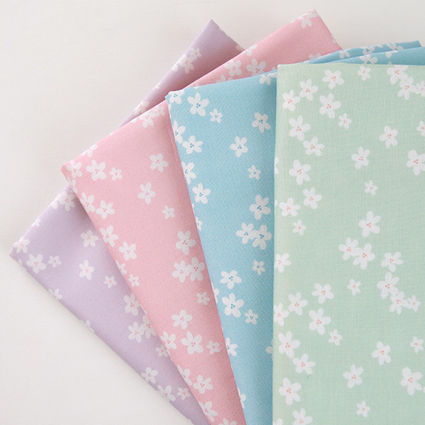 "Cotton sheeting-Mammel Cherry Blossom, 4colors(44"")"