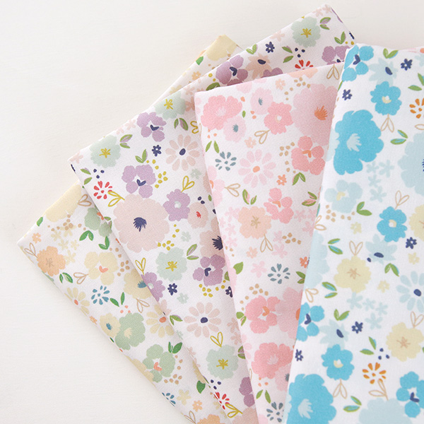 "Cotton sheeting-Mammel Cherry Bloom, 4colors(44"")"