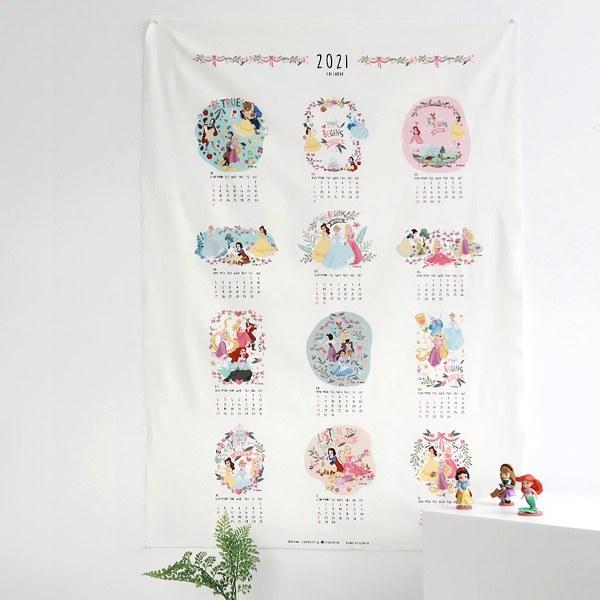 """Cotton Oxford-Disney-2021 Calendar Princess(44"""")"""