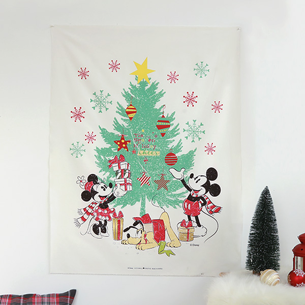 "Cotton Oxford-Disney-Mickey,Minnie and Pluto's Happy Tree(44"")"