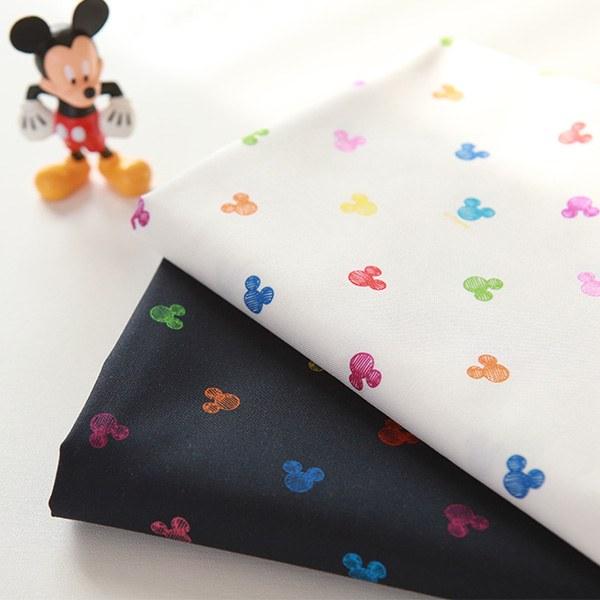 "Cotton sheeting-Disney-Rainbow Mickey, 2colors(44"")"