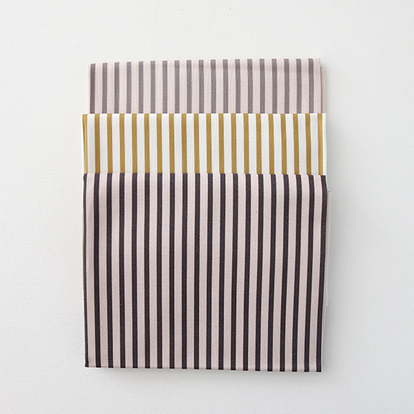 "Cotton sheeting-Baba Stripe, 3colors(44"")"