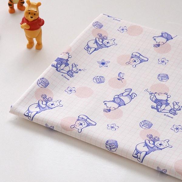"""Cotton sheeting-Disney-Vintage Grid Pooh(44"""")"""