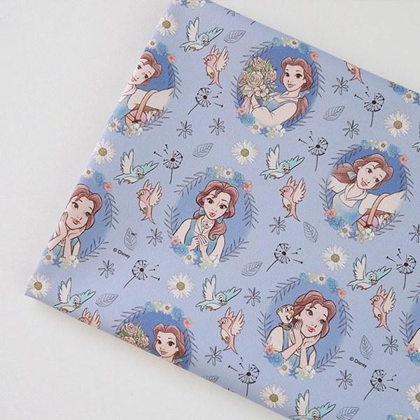 "Cotton sheeting-Disney-Meadow Frame Belle(44"")"
