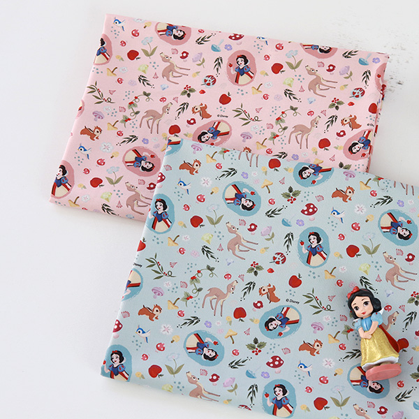 """Cotton sheeting-Disney-Snow White Forest Friends, 2colors(44"""")"""