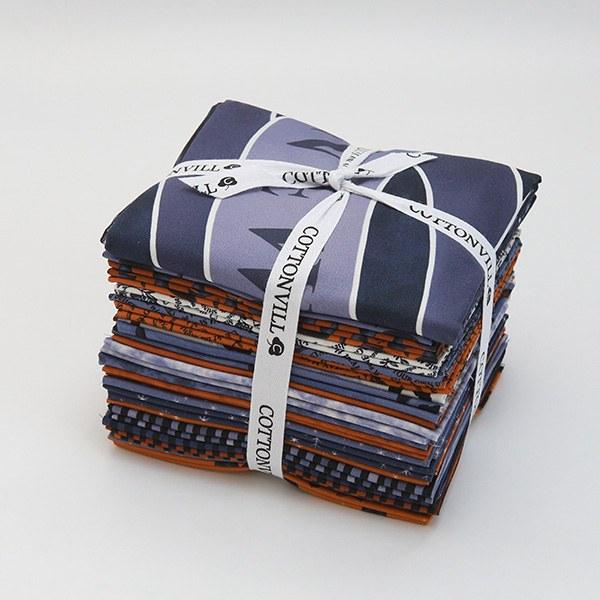Cotton sheeting-EMANON Helloween New Magic Quarter 20pcs+1full Panel Package