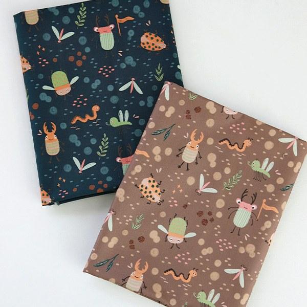 "Cotton sheeting-Petit Bugs, 2colors(44"")"