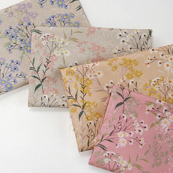 """Linen Cotton-Daisy Forest 4colors(54"""")"""