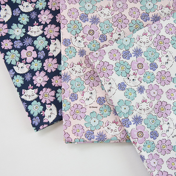 """Cotton sheeting-Disney-Marie Blooming, 3colors(44"""")"""