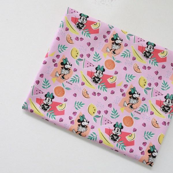 "Cotton sheeting-Disney-Fruits Basket Minnie(44"")"