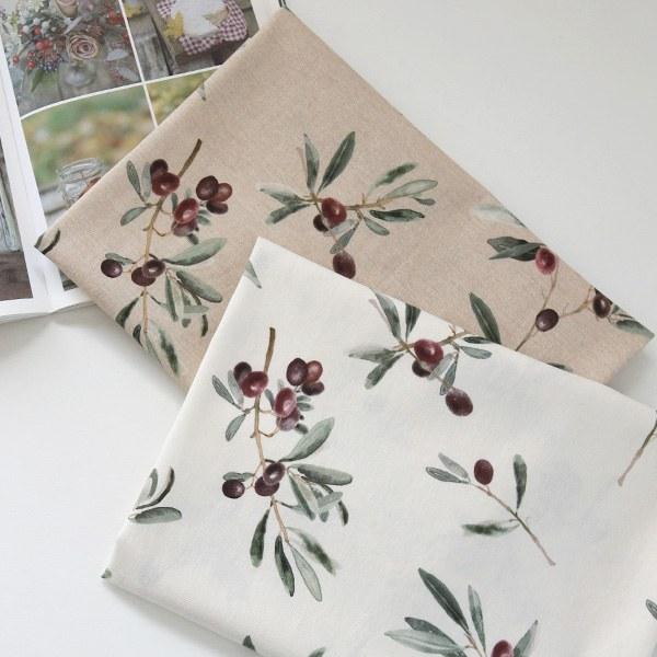 """Linen Cotton-Olive Garden, 2colors(54"""")"""