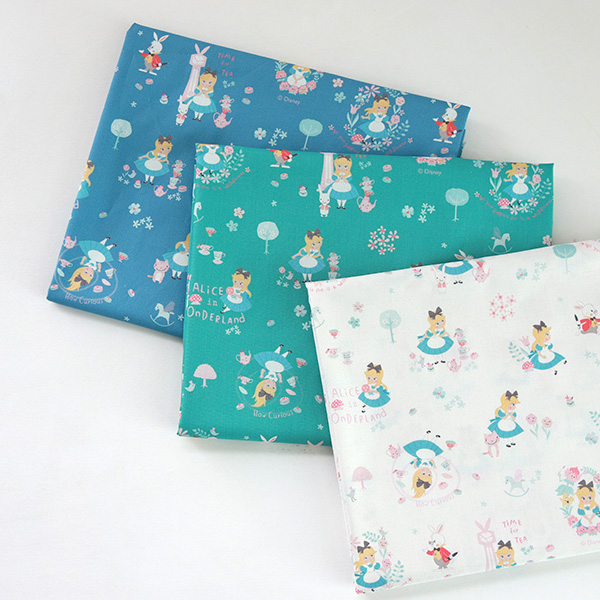 """Cotton sheeting-Disney-Baby Alice, 3colors(44"""")"""