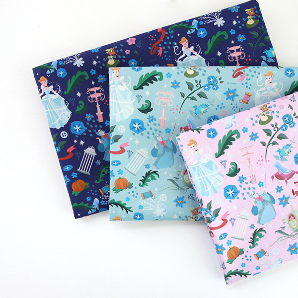 "Cotton sheeting-Disney-Cinderella Magic, 3colors(44"")"