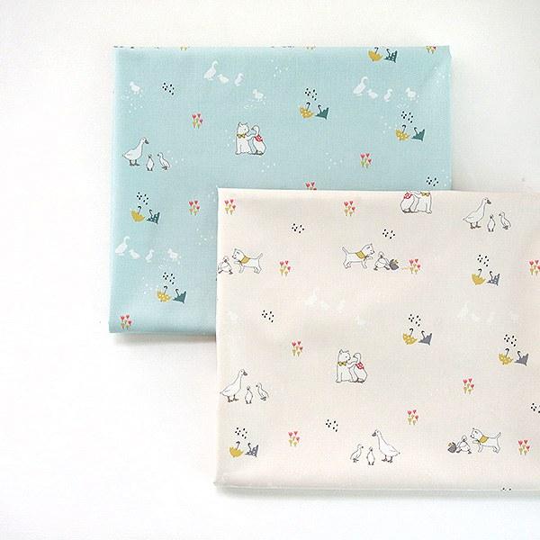 "Cotton sheeting-Shasha Story, 2colors(44"")"