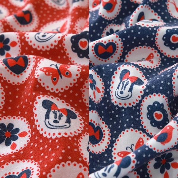"Brushed Cotton-Disney-Retro Doily Minnie, 2colors(42"")"